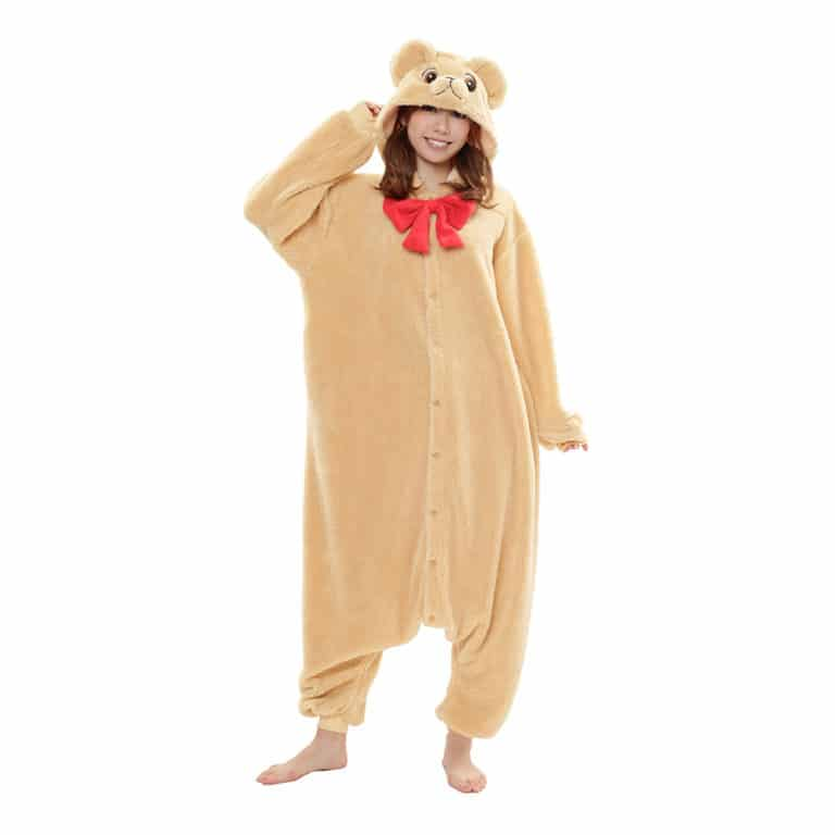 Beige Teddybjörndräkt Kigurumi